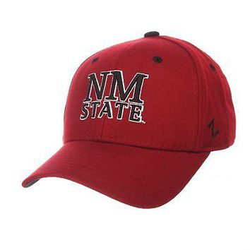 Licensed New Mexico State Aggies NCAA DH Size 7 1/8 Fitted Hat Cap by Zephyr 052723 KO_19_1