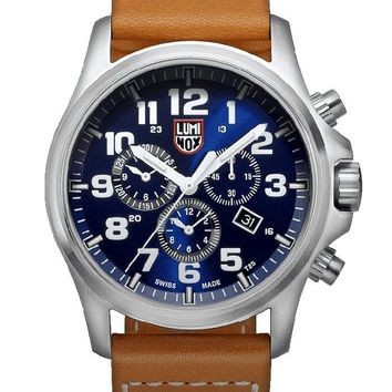 Luminox Atacama Field Mens Chrono Alarm 1940 Series - Leather Strap - Date