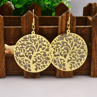 jewelry hollow tree round drop dangle earring gift for  girl  E3020