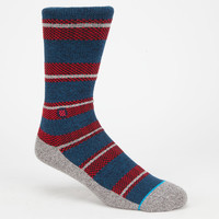 Stance Corbin Mens Athletic Socks Blue Combo One Size For Men 25529424901
