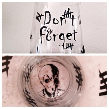 "Doctor Who inspired ""Silence"" stemless wine glass. Silence wine glass"