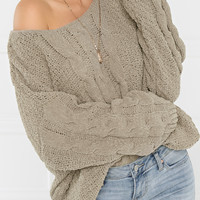 Warm Hearted Sweater - Grey