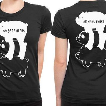 LMF1GW We Bare Bears 2 Sided Womens T Shirt