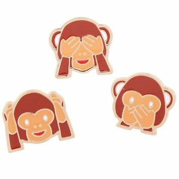 Cute Monkey See No Hear No Speak No Evil Pins