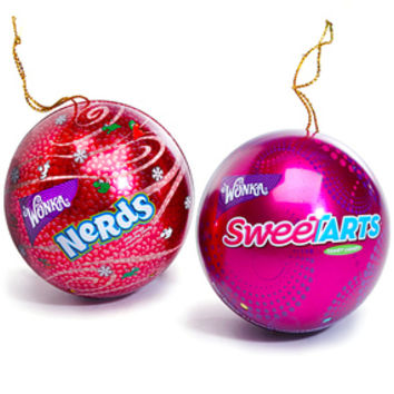 Wonka Candy Tin Christmas Ornaments: 12-Piece Box