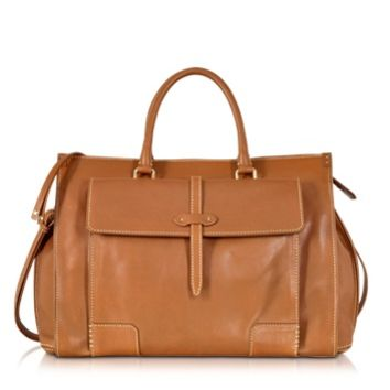 The Bridge Designer Handbags Mahe Cognac Leather Handbag