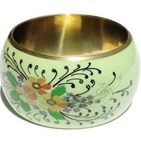 Floral Handpainted Fair Trade Bangle
