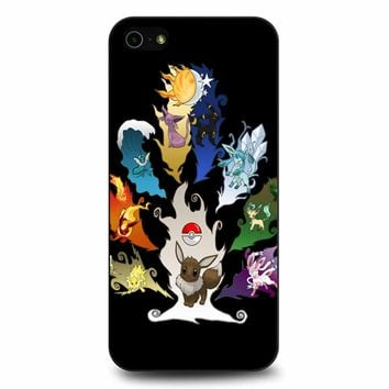 Eeveelution Tree iPhone 5/5s/SE Case