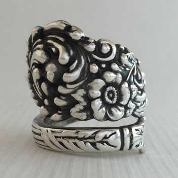 Size 8.5 Vintage Reed & Barton Sterling Silver Spoon Ring