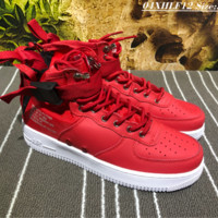 Nike SF AF1 Mid Rubber Bottom Casual Skate Shoes Red