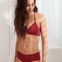 Starts With You Wireless Lightly Lined Bra, Summer Burgundy