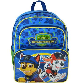 "Paw Patrol Chase & Marshall Spies Unleashed 16"" Cargo Backpack"