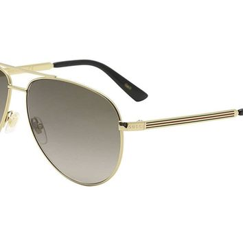 Gucci GG0137S Aviator Sunglasses Size 61mm