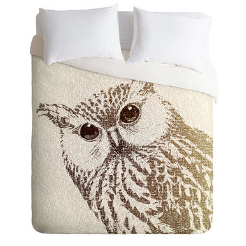 Belle13 The Intellectual Owl Duvet Cover