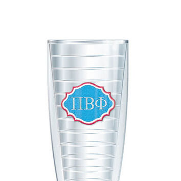 Pi Beta Phi Tumbler -- Customize with your monogram or name!