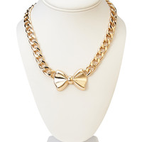 Fancy Bow Necklace