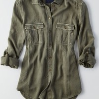 AEO Women's Boyfriend Shirt
