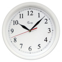Equity by La Crosse 25201 10 Inch White Clock