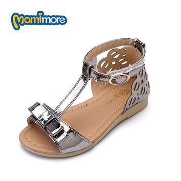 Mamimore Summer Princess Sandals For Girls Princess Girls Sandals Shoes Fashion Rubber Flat Children Shoes Chaussure Enfant