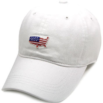 America Flag White Cap