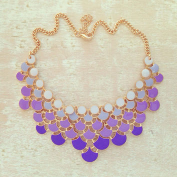 LAVENDER SKIES BY THE EIFFEL NECKLACE