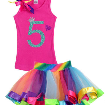 Rainbow Birthday, 5th Birthday Party, Girls Birthday, Rainbow Tutu, Rainbow Party, Birthday Party, 5th Birthday, Rainbow Tutu Dress, Outfit
