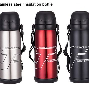 800ml Double Layer Stainless Steel Vacuity Insulation Thermos Bottle Cold Hot Keep Vaccum For Travel Hiking Camping Outdoor