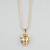 THE GOLD GODS Lion Head Necklace | Necklaces