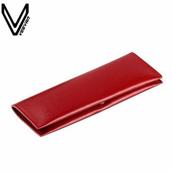New Fashion VEEVANV Vintage Purse Luxury Leather Pen Pencil Bag Pouch Purse Bag for Girls School & Office School Pencil Case