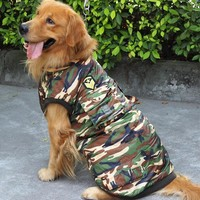 Large Dog Clothes cotton camouflage large big pet dog coat jacket hot winter warm snow costume apparel for pet dog