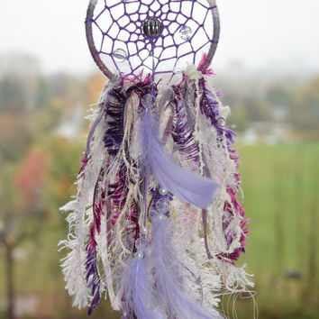 Boho Small Car Dream catcher, Car mirror Charm, Purple Dreamcatcher Decor, Gift  For Men Women, Rear View Mirror