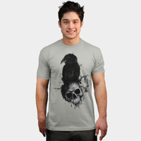 Raven And Skull T Shirt By NGDesign Design By Humans
