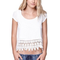 LA Hearts Crochet Trim Swing Top - Womens Tee