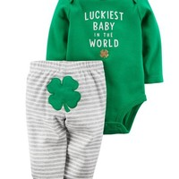 2-Piece St. Patrick's Day Bodysuit Pant Set