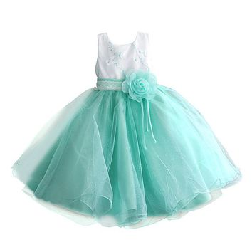 Size 4 5 6 7 8 Birthday Party Tutu Dress For Formal Girls Clothes Kids Sequin Bow Pleated Children's Dresses Girl Princess dress