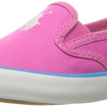 Polo Ralph Lauren Kids Kids' Piper Fch Cvs Withwht PP-Teal Loafer Fuchsia Canvas/White