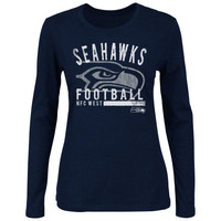 Seattle Seahawks Women's Illegal Formation IV Long-Sleeve T-Shirt - College Navy