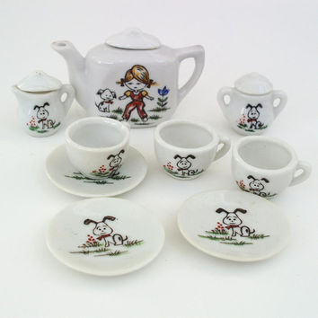 Toy Tea Set Childs Tea Set Made in Japan Tea Set by WhimzyThyme