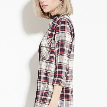 Plaid Flannel Shirt | Forever 21 - 2000170944