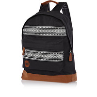 River Island MensBlack MiPac nordic stripe backpack