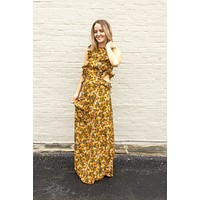 Marigold Floral Maxi Dress