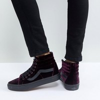 Vans Sk8-Hi Unisex Trainers In Purple Velvet at asos.com