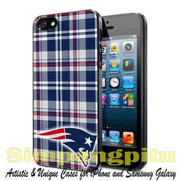 New england patriots NFL inspired burberry case for iPhone 4/4S/5/5S/5C Case, Samsung Galaxy S3/S4/S5 Case, iPod Touch 4/5 Case