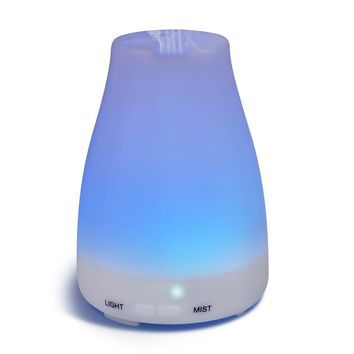 Diffusers,Homeweeks 100ml Colorful Essential Oil Diffuser with Adjustable Mist Mode,Auto Off Aroma Diffuser for Bedroom/Office/Trip