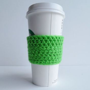Crochet Coffee Cup Cozy - Coffee Cozy - Coffee Cup Cover - Cup Warmer