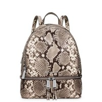 Rhea Small Embossed-Leather Backpack | Michael Kors