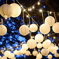 10 pcs  Chinese Paper Lantern Balloon Lamp Ball Light Party Supplies Halloween Decoration CY1