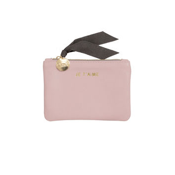 Je t'aime Coin Pouch - Pale Pink