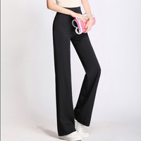 Casual Autumn High Waist Plus Size Pants [8664675591]