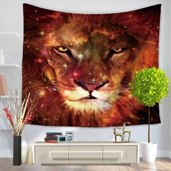 New Arrival 3D color Lion Elephant Tapestry India Wall Hanging Home Decoration Tapestries Flowers Boho Printed Blankets